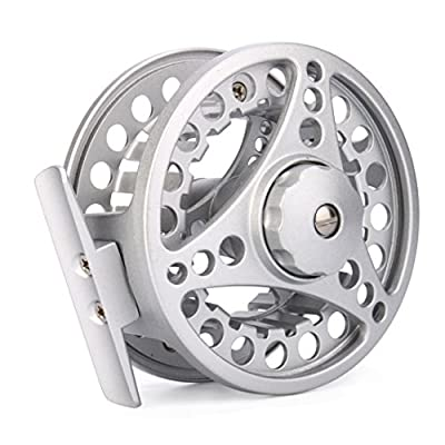 Byste Fly Reel 3/4/5/6/7/8 WT Large Arbor Silver/Black Aluminum Fly Fishing Reel by Byste