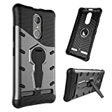 Coque Lenovo K6 Case Battlegear Coque case TPU + PC Shock Absorption Coque Dual Layer Protective Housse rotatif Stand étui de protection pour Lenovo K6 (Noir)
