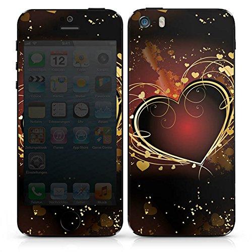 Apple iPhone SE Case Skin Sticker aus Vinyl-Folie Aufkleber Verliebt Herz Liebe DesignSkins® glänzend