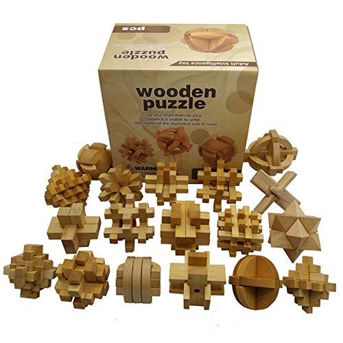 elspiele 3D Holzpuzzle Denkaufgabe IQ Puzzle #2 - Klassische Logikspiele Schloss Spiel für Erwachsene und Kinder - Geschenk-Box Dekoration Idee ()