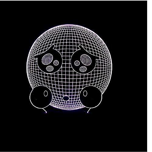 Hauptbeleuchtungskleines Illusionslicht des armen Ausdrucks buntes 3D führte helles Geschenklicht der Vision 3D energiesparendes Nachtlicht (Ausdrücke Dekorative Elegante)