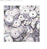 bastelkoerble® Pailletten in Silber hologramm