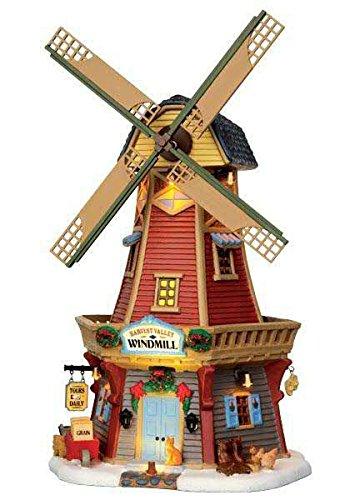 Lemax - Harvest Valley Windmill - 20cmx32cmx16cm - Beleuchtetes & Animiertes Gebäude - LED - Porzellan