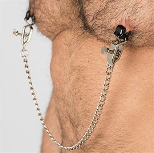 OnundOn Deluxe Verstellbare Nippelklemmen mit Kette