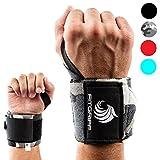 Handgelenkbandage (2er-Set) von Fitgriff - 45cm Profi Bandagen für Fitness, Kraftsport, Bodybuilding, & Crossfit Training - für Damen und Herren - 2 Jahre Garantie