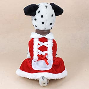 GODHL Noël chien robe mignon animal Costumes pour petits Dogs.Size:S
