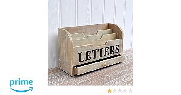 Gisela graham support en bois délavé pour lettres et prospectus