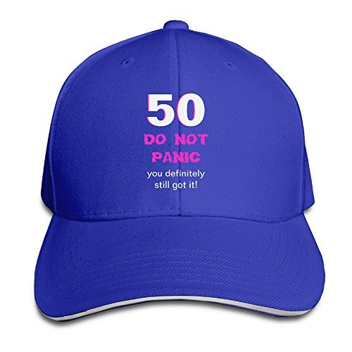 PWIND Cap Funny 50th Birthday Card Menswomens Comfort