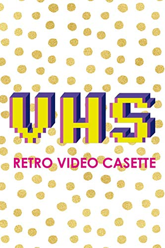 VHS Retro Video Casette: Blank Lined Notebook (80's ) Dots