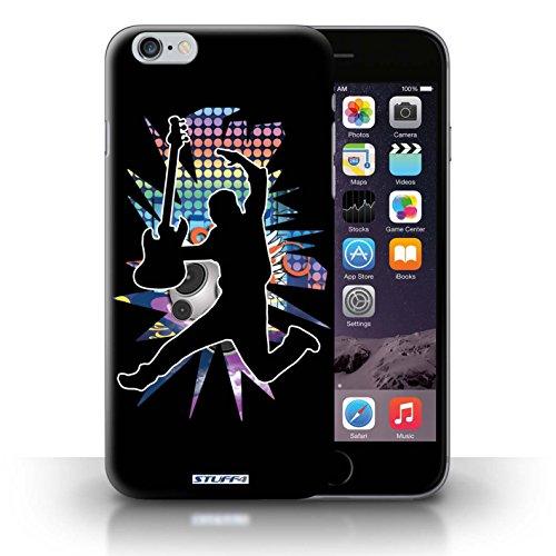 Kobalt® Imprimé Etui / Coque pour iPhone 6+/Plus 5.5 / étendre Noir conception / Série Rock Star Pose Saut Noir