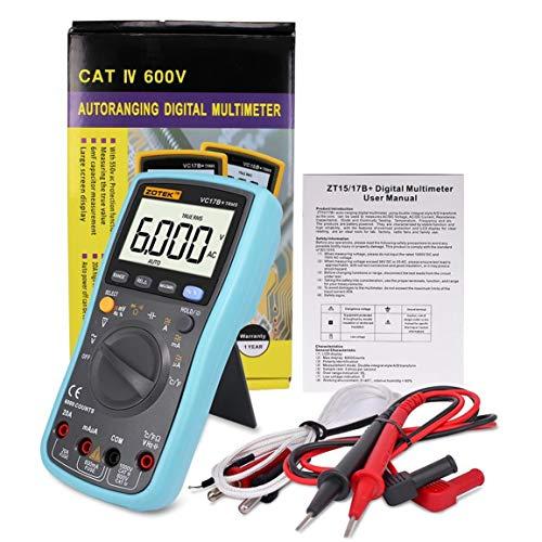 Digital LCD Multimeter, Taschen-Multi-Tester Voltmeter Amperemeter Ohmmeter AC/DC-Spannung DC Strom Widerstand Dioden Transistor Akustischer Durchgangsprüfer