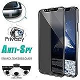 Costume Anti-Spion-Privatleben-ausgeglichenes Glas-Schirm-Schutz für iPhone XS/XS Max/XR, Anti-Kratzen, Anti-Fingerabdruck, dauerhaft (XS)