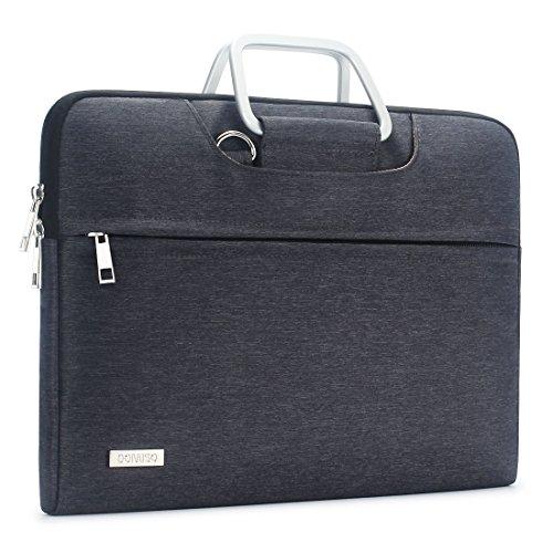 """DOMISO Wasserdicht Hülle Carry Tasche Schultertasche für 13 - 13.3 zoll Laptops / Apple MacBook Air & Pro / 13.3"""" Lenovo Yoga 720 / 13.3"""" ASUS ZenBook UX330UA mit Polyestergewebe und Tragegurt (Grau)"""
