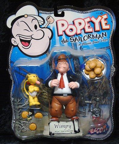 Popeye the Sailorman / der Seemann - Mezco 2001 - Wimpy & Jeep