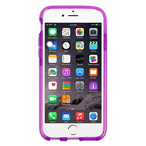 Wkae Case & Cover Pour le cas de protection iPhone 6 &6s Knit Texture TPU ( Color : White ) Purple