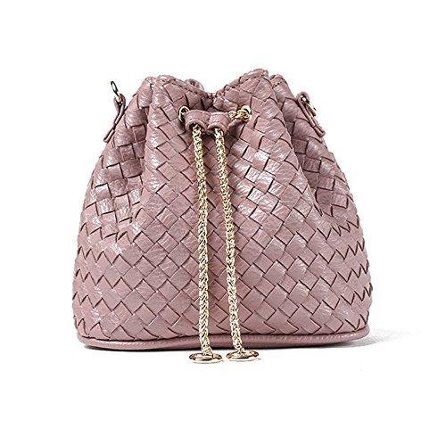 JUND Neu Gehäkelt Elegant Mini Beutel Mode Einfarbig Kette Umhängetasche Lässig Trendy Messenger Bag - Gehäkelte Beutel