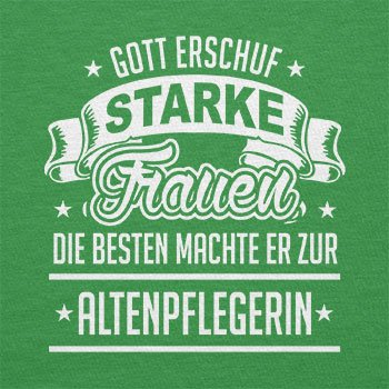 TEXLAB - Altenpflegerin - Damen T-Shirt Grün
