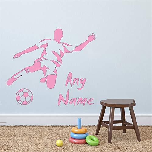 Nome personalizzato per il calcio Adatto ai bambini Appassionato di sport Adesivi murali per campi sportivi Decalcomanie di arte della parete Adesivi