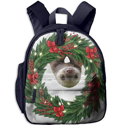 Christmas Stocking Sloth Funny Kids Bags Boys and Girls School Backpack