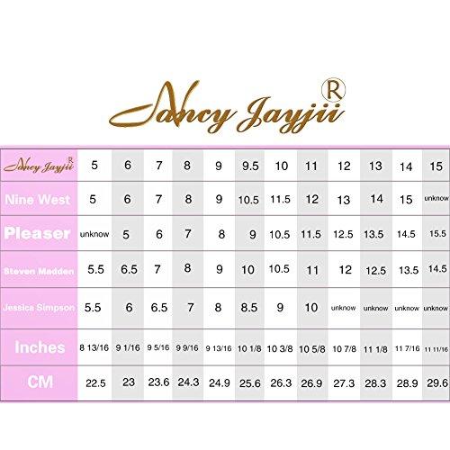 NANCY JAYJII - Femmes - Stiletto - Noir ou Rose - Cuir de daim véritable - Talon aiguille - Bout pointu fermé Or