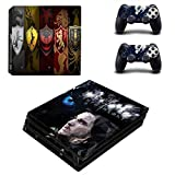 Skin Autocollant PS4 Pro Game of Thrones Skin Sticker pour Console Sony Playstation 4 Pro & Controllers Skins pour PS4 Slim Skin, PS4 Pro Skin, Ps4 Skin Sticker A307