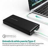 Quick-Charge-30-Power-Bank-20100mAh-Qualcomm-RAVPower-QC-30-Carga-Rpida-Bateria-Externa-para-Mvil-iPhone-7-iPhone-7-Plus-Samsung-Tablet-Type-C-de-Entrada-y-Salida