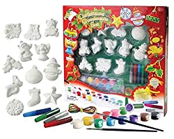 Paint Your Own Christmas Decorations Activity Set