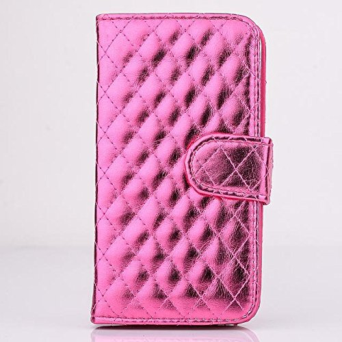 "inShang Hülle für Apple iPhone 6 Plus iPhone 6S Plus 5.5 inch iPhone 6+ iPhone 6S+ iPhone6 5.5"", Cover Mit Modisch Klickschnalle + Errichten-in der Tasche + GRID PATTERN, Edles PU Leder Tasche Skins E polish PU red"