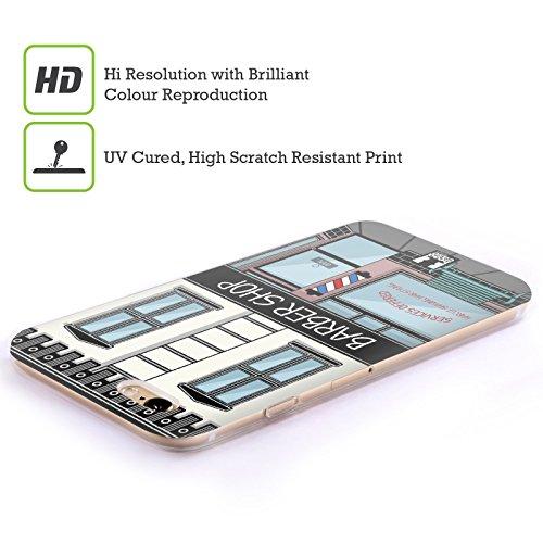 Head Case Designs Coiffeur Bâtiments Étui Coque en Gel molle pour Apple iPhone 6 / 6s Coiffeur