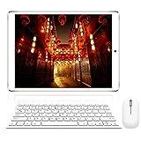 Tablet 10 Pollici con Wifi Offerte, RAM da 3GB 32GB ROM(espandibile 128GB)DUODUOGO 4G Tablet Android 8.1 Quad-Core 1.5 GHz Dual SIM Tablet PC Offerta Del Giorno con Netflix/OTG/Tastiera(Oro 32GB)