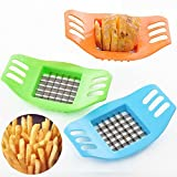 QHGstore Stainless Steel Vegetable Potato Slicer Cutter Cutting Slicers Cut Fries Device
