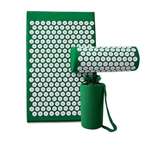 QIYU Akupressurmatte, Massagematte, Akupressur- und Massagematte zur effektiven Lockerung und Lösung von Verspannungen/in verschiedenen fröhlichen Farben erhältlich,Grün