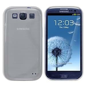 Slabo Silikon Schutzhülle Hülle Case für Samsung Galaxy S3 / S3 Neo - TRANSPARENT WEIß | CLEAR WHITE