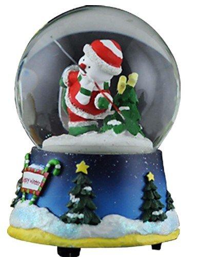 ZQ posti in rotazione nevica sfera di cristallo carillon 8 suono.