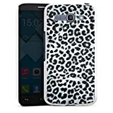 DeinDesign Alcatel One Touch Pop C9 Hülle Schutz Hard Case Cover Leopard Fell Grau Animal Print