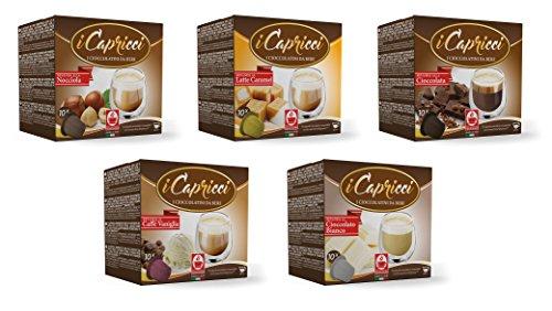 Bonini iCapricci Nespresso Kakao Kapseln - 50 Schokolade Kapseln Mix, Nespresso kompatibel von Bonini