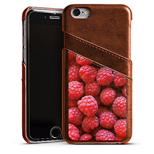 Apple iPhone 4 Housse Étui Silicone Coque Protection Framboise Framboises Framboise Étui en cuir marron