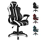 EMPIRE GAMING - Fauteuil Gamer Racing 600 Series Blanc - Forme siège baquet Sport - Accoudoirs Ultra-Confortables et Moelleux