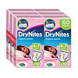 Huggies DryNites Girl hochabsorbierende Pyjamahosen Unterhosen 4-7 Jahre, 2 er Pack (2 x 30 Pants)