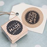 East of India 'Hand Made With Love' Wodden Rubber Stamp - Craft by East of India