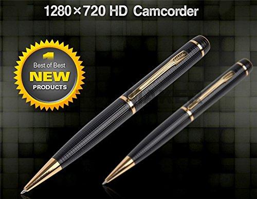 Spy Pen HD 720p Video-Recorder Spy von Gadget ®. (Mini DVR Spion Kamera Gadget. Premium Kugelschreiber schützt Ihr Spy Gear. Audio Video Recorder Überwachungskamera Spy Gerät. 45 Tage Geld zurück-Garantie (Recorder Pen Video)