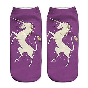 Cute Unicorn Socks Casual Sport Socks Pattern Socks for Kids Girls and Ladies Women