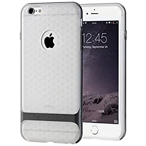 GranVela ROCK PC+Soft TPU Protective Shell Case for Apple iPhone 6 Plus / 6s Plus 5.5''- Iron Grey