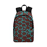 Best AmazonBasics Kids Backpacks - Mosaic Structure Pattern Red Brown Casual Daypack Travel Review