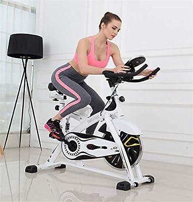 Lcyy-Bike Indoor Cycling Fahrradtrainer Magnet Widerstand 15 Kg Schwungrad Cardio Workout Mit Multifunktionaler Monitor & Feder Stoßdämpfer Verstellbare Lenker & Sitzhöhe Für Damen Und Herren