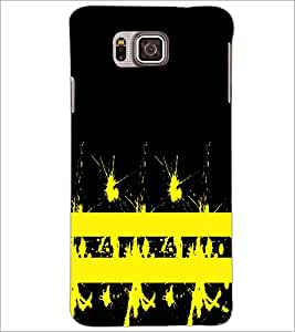 PrintDhaba Yellow Spots D-1119 Back Case Cover for SAMSUNG GALAXY ALPHA (Multi-Coloured)