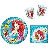 Disney Arielle Mermaid Partygeschirr - Partyset Becher Teller Servietten