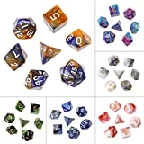 7pcs/set Acrylic polyhedral Dice for trpg Board Game Dungeons And Dragons D4 de D20 1