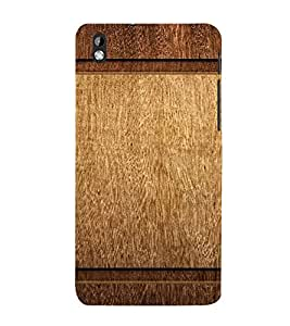PrintVisa Plain Wooden Pattern 3D Hard Polycarbonate Designer Back Case Cover for HTC Desire 816