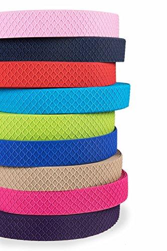 Hochwertiges elastisches Gummiband gemustert 40 mm beidseitig verwendbar in vielen Farben zur Reparatur und Gestaltung von Hosenbändern oder Jogginganzügen (blau)